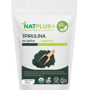 Spirulina orgánica en polvo